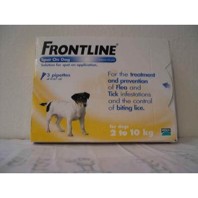 פרונטליין 2-10 קילו כלב