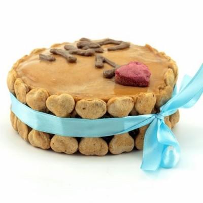 עוגת יום הולדת לכלב - עצמות חומות