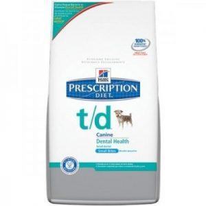 """מזון רפואי הילס T/D לכלב קטן, 3 ק""""ג"""